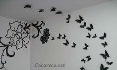 Borboletas de papel com molde | Cacareco