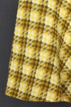 Vintage pattern Yellow tartan kilt