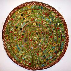Amazing labyrinth rug by Kris McDermet