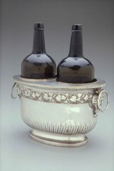 Pair of wine coolers, English (probably Sheffield), about 1790.