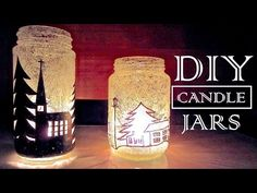 How to Make Candle Holders Recycling Old Jars | DIY Christmas Decorations - YouTube
