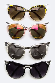0b346b2818 Our  Thundercat  sunglasses feature a sexy cat eye silhouette with crystal  corner accents . - UV 400 Protection