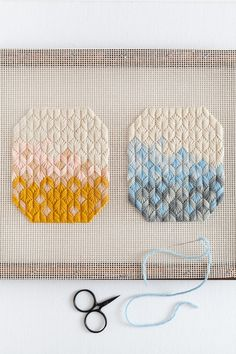 Crafting Ideas and Inspiration Needlepoint Patterns, Hand Embroidery Patterns, Embroidery Kits, Cross Stitch Embroidery, Bargello Patterns, Macrame Patterns, Weaving Art, Loom Weaving, Plastic Canvas Tissue Boxes