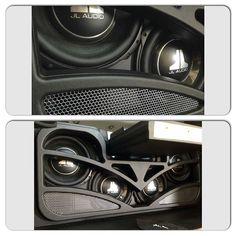car audio custom install trunk amp rack unique enclosure plexiglass logo fiberglass plexi acrylic jl audio