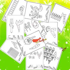 ارسم، تعلم ، لون [..حديقة الأرقام من 1- 10 .. Islamic Studies, Home Schooling, Toddler Activities, Worksheets, Toddlers, Language, Diagram, Study, Calligraphy