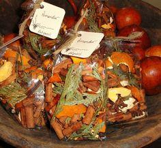 Orange POMANDER Potpourri with Clove, Cinnamon, Orange Peel, Cedar and Pure Essential oil of Orange and Spice