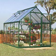Palram 6 x 8 ft. Green Hybrid Greenhouse HG5508G