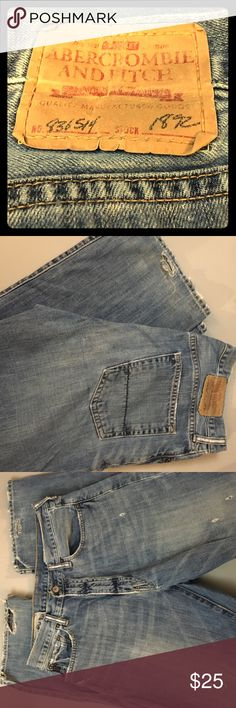 MENS Abercrombie & FItch jeans 31x30 Gently worn, soft Ambercrombie &Fitch jeans. Slight fraying on back bottom of each pant leg. Abercrombie & Fitch Jeans Relaxed