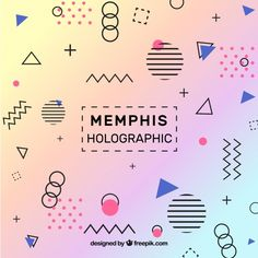 More than a million free vectors, PSD, photos and free icons. Exclusive freebies and all graphic resources that you need for your projects 80s Background, Holographic Background, Memphis Pattern, Geometric Graphic, Memphis Design, Backgrounds Free, Graphic Design Branding, Vector Free, Cool Posters