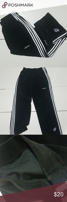 bdb0d60332b Heavy Pants Adidas black with white stripes heavy athletic pants with KU  logo men's XL 2005
