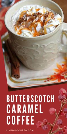 Easy Butterscotch Caramel Coffee Recipe perfect fall drink with free printable coffee bar recipe card. ✅ Click for the FREE PRINTABLE Entree Recipes, Easy Dinner Recipes, Fall Recipes, Easy Meals, Dessert Recipes, Party Recipes, Apple Recipes, Dessert Ideas, Drink Recipes