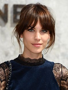 ALEXA CHUNG Alexa Chung's long, center-parted bangs and beautifully blended layers from 2013 Paris Fashion Week were so good we almost forgot how much we love her cat-eye liner. Almost.