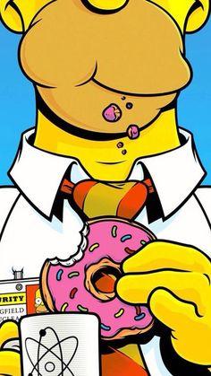 Homer Simpson wallpaper by Eivion - 23 - Free on ZEDGE™ Pop Art Wallpaper, Tumblr Wallpaper, Galaxy Wallpaper, Cartoon Wallpaper, Screen Wallpaper, Trendy Wallpaper, Wallpaper Backgrounds, Simpsons Drawings, Simpsons Art