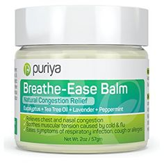 Natural Chest and Nasal Congestion Relief. Soothes Sore Throat, Dry Cough, Stuffy Nose from Upper Respiratory & Sinus Infection. Works Wonder on Bronchitis, Allergies, Headaches. A Must for Cold Flu Puriya Chest Congestion Remedies, Congestion Relief, Flu Remedies, Nasal Congestion, Natural Remedies, Asthma Relief, Headache Relief, Holistic Remedies, Natural Treatments