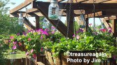 Mason Jar Solar Lights, the Original, by treasureagain  http://etsy.me/TYvmnl ....      Customer photo by Jim