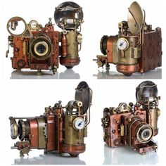Beautiful steampunk cameras