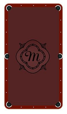 Monogram Frame M Billiards Cloth