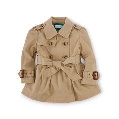 Princess Cotton Trench Coat - Outerwear   BABY GIRL APPAREL - RalphLauren.com