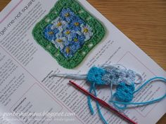 love this forget-me-not square!