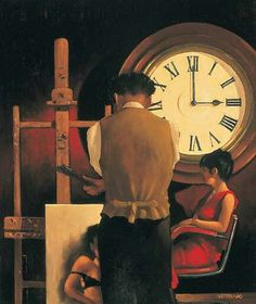 Jack Vettriano (born 17 November birth name Jack Hoggan) is a Scottish painter. He did not start painting until the when a girlfriend gifted him a set of watercolors for his birthday. Jack Vettriano, The Singing Butler, Pin Up, Pulp Art, Clocks, Lovers, Gallery, Comic Art, Michael Carter