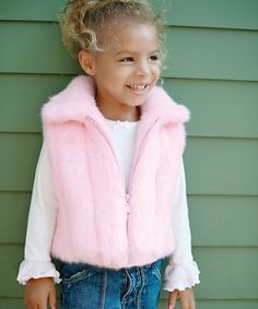 This is too CUTE for words!!! Donna Salyer Pink Faux Mink Vest