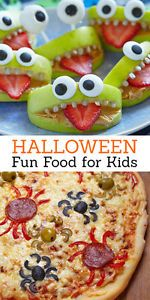 Halloween is my favorite time of the year to make fun food for the kids! There are so many great ideas for making monsters, ghosts and ghouls out of fruit and vegetables. Now is the time to make food fun...