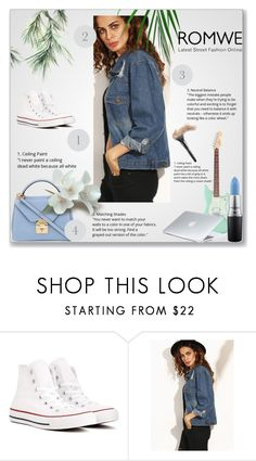 """Romwe contest"" by anime-sakura ❤ liked on Polyvore featuring Converse, Mark Cross, MAC Cosmetics and Dyson"
