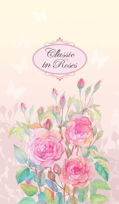 Sweet and soft theme painted with watercolor Flowery Wallpaper, Rose Wallpaper, Watercolor Flowers, Watercolor Paintings, Line Store, Bedroom Accessories, Texture, Gaia, Classic