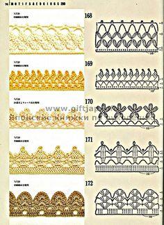 10 novos bicos de crochê - Coisas da Léia