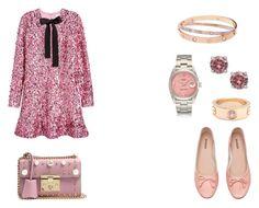 """База + романтика - 2"" by yulia-gigina on Polyvore featuring мода, H&M, Gucci и Cartier"