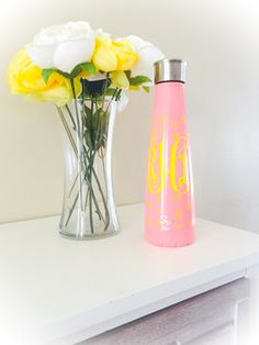 Swell Bottle Decal // Swell Bottle Monogram // by WMCreationsShop