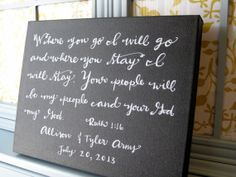 Bible verse canvas // Hand lettered art by BeanstalkLoft on Etsy, $94.00