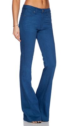Paige Denim High Rise Bell Canyon in Frenchie