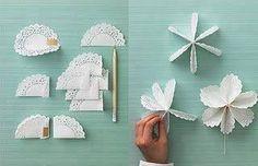 Résultats de recherche d'images pour «paper doily flowers»