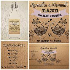 Etiketa svatební limonády, vína nebo jiného moku :-) by knirky - SAShE.sk - Handmade Svadba