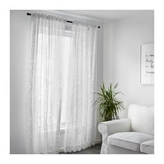 BORGHILD Sheer curtains, 1 pair  - IKEA $25 for the pair. can use on ceiling as divider for bed, if desired