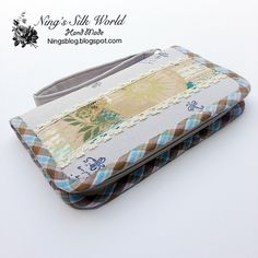 All in one zipper closure wallet. Put your iPhone, Samsung Galaxy Note 4 credit cards, passport, coins dollar bills, IDs coupons! It helps you organize everything in your purse! Make you life easier! Ningssilkworld.etsy.com. Pinterest customer 10% off coupon code PIN10. Buy it NOW!