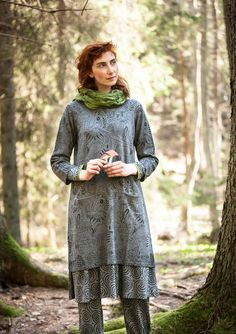 """Svampskogen"" tunic in linen/cotton – Cozy lambswool sweater – GUDRUN SJÖDÉN – Webshop, mail order and boutiques 