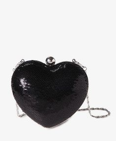Sequined Heart Minaudiere