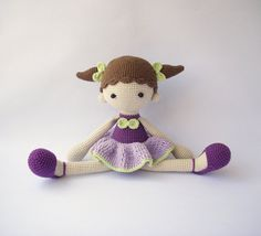 This is Didi ballerina. This is a PDF pattern Didi doll only and not the finished item!!! This written crochet pattern includes all the instructions needed to make your own little doll with a dress. Pattern is written in English, using US crochet terminology. I tried to keep beginner crocheters in mind and included detailed instructions, many step-by-step photos and useful tips and tricks. SKILLS REQUIRED • Crocheting in spiral. • Crocheting in rounds. • Crocheting in rows. • Chain, slip…