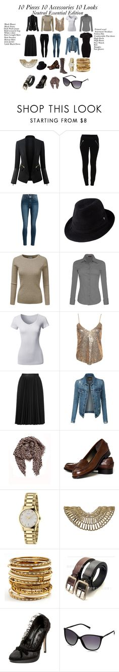 """""""10 pieces 10 accessories 10 outfits"""" by julianne-lalonde ❤ liked on Polyvore featuring Vila Milano, Helen Kaminski, NLY Trend, Astraet, LE3NO, Rika, Lucky Brand, Talbots, Gucci and Dorothy Perkins"""