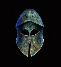 Ancient Greece: Armor Helmet by Samuel Merrin, via Flickr