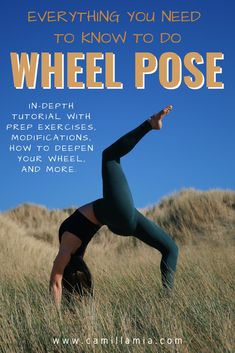 In-depth guide to doing wheel pose! Alignment, how to prepare for wheel, how to modify wheel to avoid wrist + low back pain, how to advance your wheel pose. Yoga Inversions, Yoga Sequences, Yoga Thoughts, Home Yoga Practice, Yoga Philosophy, Yoga Props, Advanced Yoga, Yoga For Flexibility, Yoga Poses For Beginners