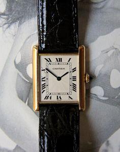 Vintage Cartier Watch, Vintage Rolex, Vintage Watches, Cartier Watches Women, Rolex Watches, Watches For Men, Gucci Gold Watch, Black Rolex, Rolex Air King