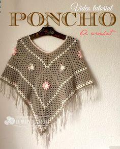 La Magia del Crochet: Cómo hacer un PONCHO con Grannys a crochet