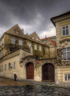 View of Sněmovní street form Vallenstein Square, Lesser Town of Prague, Prague, Czechia