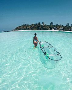 Go kayaking in very clear waters Vacation Places, Dream Vacations, Vacation Spots, Places To Travel, Travel Destinations, Places To Visit, Visit Maldives, Destination Voyage, Ultimate Travel