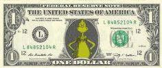 How the Grinch Stole Christmas {Color} Dollar Bill -REAL Money! Stocking Stuffer