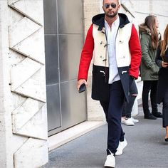 """Milan fashion week day 2, wearing my new duffle from Ports 1961 autumn winter 2015/16 #love #cool #easy #chic @ports1961menswear #menstyle #mensfahion"""