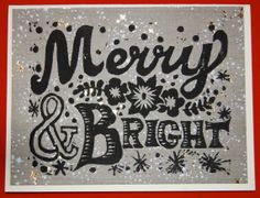 Merry and Bright holiday card by ShootTheBreezePrints on Etsy, $2.50